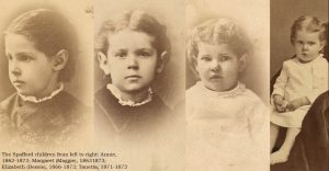 With Anna on her trip were 11-year-old, Tanetta; 9-year-old, Elizabeth; 5-year-old, Margaret Lee; and 2-year-old, Annie.